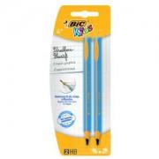 BIC Deutschland GmbH & Co. OHG BiC® Kids Dreikant-Bleistift, Dreikantstift mit robuster Miene speziell für Schreibanfänger, 1 Packung = 2 Stück, farbig sortiert