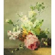 Werk aan de Muur Schilderij Mozaïek van een stilleven (VT Wonen & Design Beurs 2019) - Canvas - 40x45