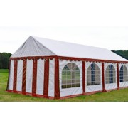 Premium Partytent PVC 4x8x2 mtr in Wit-Rood