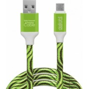 Cablu de date micro USB Culoare alb verde rosu albastru Curent maxim 2A Lungime 1m