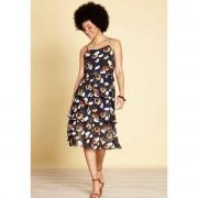YUMI Платье короткое расклешенное с цветочным рисунком