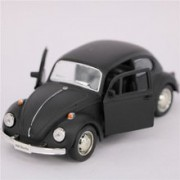 New Classic 1967 Volkswagen Vw Classic Beetle Bug Vintage Diecast Metal Pull Back Car (Black)