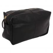 Örskov Necessär Vintage i svart läder - flera storlekar L: 27 x 16 x 12 cm Örskov