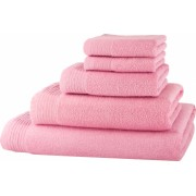 Set baie 5 prosoape Classic Collection Roz deschis 100 bumbac Terry Selection