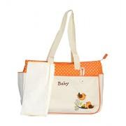 Pink Olive Fabric Orange Beige Diaper Bag (PO-0615B15)