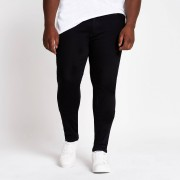 river island Mens Big and Tall Black Ollie spray on fit jeans (46XL)