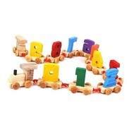 Lakshya-Wooden Number Train 0 to 9 with Engine and Train Tail /Digital Train/Wooden Train Set