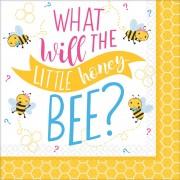 Méhecske szalvéta 16 db-os, 25*25 cm
