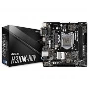 MB ASRock H310M-HDV, LGA 1151v2, micro ATX, 2x DDR4, Intel H310, S3 4x, VGA, DVI-D, HDMI, 36mj