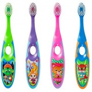 Jordan Step 3-5 years Toothbrush Soft Bristles Latest Design BPA Free Imported Brush gentle to Teeth Gems. Made in Malaysia ( Random Color ) ( Pack Of 6 )