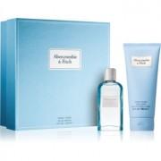 Abercrombie & Fitch First Instinct Blue coffret III. (para mulheres) Eau de Parfum 50 ml + leite corporal 200 ml