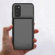 4800mAh All-wrapped Phone Backup Battery Charger Case Cover for Samsung Galaxy S20 - Black