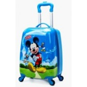 TOURTIER Newest Hard Side Water Resistance Polycarbonate Fashionable Smart School Bag For Kids Comfortable And Ergonomic Handle Carry Luggage Bag Cabin Luggage - 18 inch(Blue)