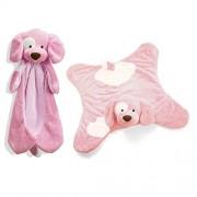 Gund Bundle of Two Spunky Blankets - Spunky Comfy Cozy Blanket & Spunky Huggybuddy - Pink