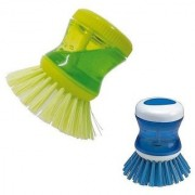 StyleWell Pack of 2 Pcs Soap Dispenser Brush For Kitchen Sink Dish Washer Wet and Dry Duster Cleaning Brush