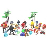 Sonic Friends Deluxe Figure Play Set Featuring Sonic Character Figures Decorative Themed Accessories - Play Set Includes All Items Shown