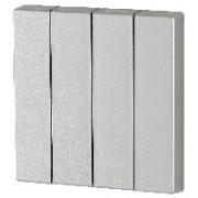 Capac Buton cvadruplu - Argintiu lucios I/O CWIZ-04/43 EATON