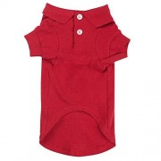 """Zack & Zoey Cotton Polo Shirt for Dogs, 8"""" X-Small, Tomato Red"""