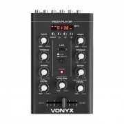 Vonyx STM500BT, mixer Dj cu 2 canale, MP3-Player, USB-port, negru (Sky-172.974)