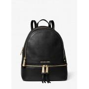 MK Rhea Medium Leather Backpack - Black - Michael Kors