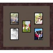 Arte a marcos doble-multimat 807-119/89-FRBW26061 alfombrilla de fotos con Collage enmarcado alfombra doble con 5-3,25 x 4,5 aberturas y café exprés marco
