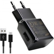 New 2 AMP Charger With TYPE C USB Cable For Samsung Galaxy S8 / S8 edge - Black