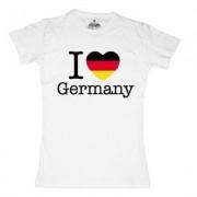 geschenkidee.ch Ländershirt Deutschland, Weiss, L, Frau