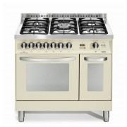 Lofra Pibd96mfe/ci 90x60 Cucina Avorio Piano 5 Fuochi - Doppio Forno Elettrico Multifunzione
