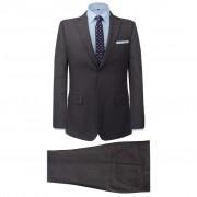 vidaXL Pánsky dvojdielny formálny oblek, sivý s pásikmi, veľkosť 52
