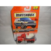 MATCHBOX #26 OF 100 RED, GRAY AND WHITE ROAD WORK SERIES CEMENT TRUCK DIE-CAST COLLECTIBLE