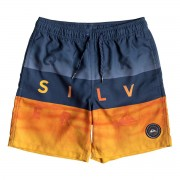 "Quiksilver Short de bain enfant Quiksilver Word Block 15"" orange"