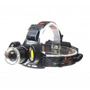 Linterna Frontal Cintillo T6 Cree 3 Focos Zoom