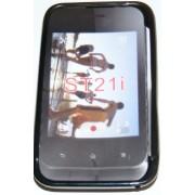 Силиконов гръб ТПУ за Sony Xperia tipo ST21i Черен