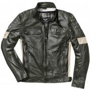 Black-Cafe London Brooklyn Motorcycle Leather Jacket Green 58