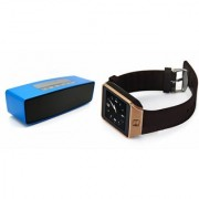 Zemini DZ09 Smartwatch and Box-2 Bluetooth Speaker for LG OPTIMUS VU(DZ09 Smart Watch With 4G Sim Card Memory Card| Box-2 Bluetooth Speaker Mini Sound Link Speaker)