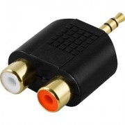Deltaco 2 x RCA till 3.5 mm-adapter
