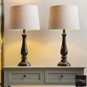 J. Hunt Home Metal Touch Table Lamps 2 Pack