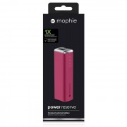 Mophie power bank 2600 mAh rosso POWER RESERVE 1X