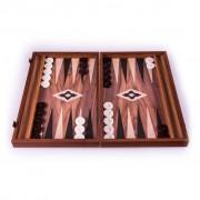 Set joc table backgammon lemn cu aspect de nuc 47 5 x 60 cm