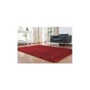 Tapete Silk Shaggy 1, 00 X 1, 40 Unico/vermelho Niazitex Silk Shaggy Vermelho 1, 00 X 1, 40 M