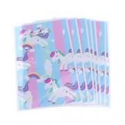 Toyvian Bolsas de Regalo de Unicornio Bolsa de Dulces de Unicornio Arcoiris Linda Bolsa para favores de Fiesta 100 Piezas