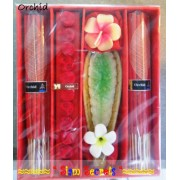 Large Incense gift Set Aromatic Orchid -Candle, Sticks & Cones