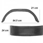 Aripa remorca plastic, aparatoare noroi roti spate remorci 24/84,5/21 cm