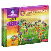 Joc Magnetic Educativ 3D Magspace Ever Changing Zoo - 90 piese