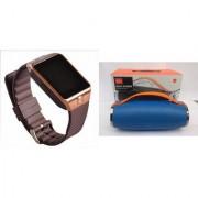 Mirza DZ09 Smart Watch and Mini Xtreme K5 + Bluetooth Speaker for SAMSUNG GALAXY S 5 SPORT(DZ09 Smart Watch With 4G Sim Card Memory Card| Mini Xtreme K5 + Bluetooth Speaker)