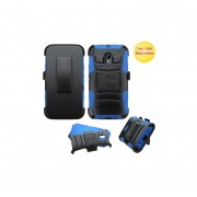 Clip Dual Protector Mixto C/pie Motorola G 3ra Gen Negro / Azul