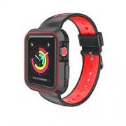 SumacLife Carcasa de Dos Tonos, fácil de Instalar, para Apple Watch Series 3 2017 Edition (42 mm) (Compatible con Series 2 y Serie 1), Darkside Red