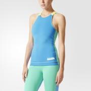 adidas Women's Stellasport Gym Tank Top - Blue/Green - XS/UK 4-6 - Blue