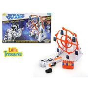 Rotating Target Practice Space Shooter Box Set From Little Treasures That Includes Futuristic Space Gun And Windmill Style Target Station