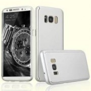 Husa Samsung Galaxy S8 Plus FullBody Elegance Luxury Silver acoperire completa 360 grade cu folie de protectie gratis